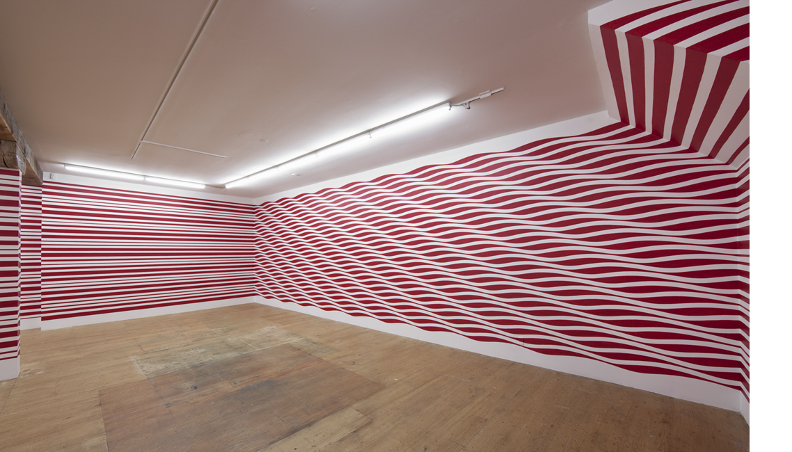 03_Flow exhibition, Spirograph, wall drawing
