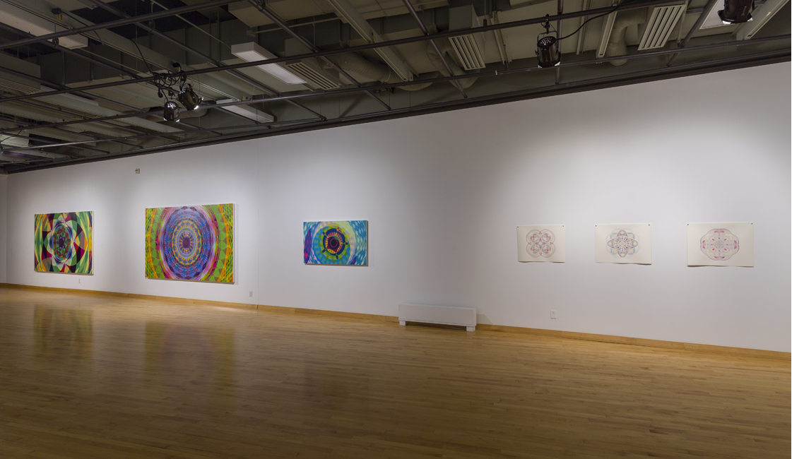 exhibition view, Starbursts and other vibrations